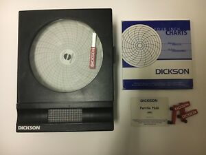 Dickson Sk4100f7 4 7 day Temperature Chart Recorder With Accessories