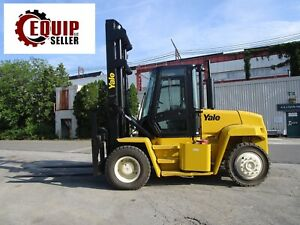 2006 Yale Gp210dc 21000 Lbs Forklift Boom Truck With Cab Propane Side Shift