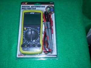 New Performance Tool W2972 Digital Automotive Multimeter Overload Protection