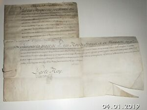 Rare 1726 4 Page French Royal Court Official Minutes Signed By King Louis Xv On
