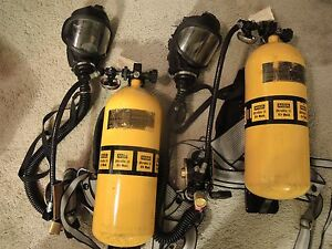 2 Msa Breathing Apparatus Scba