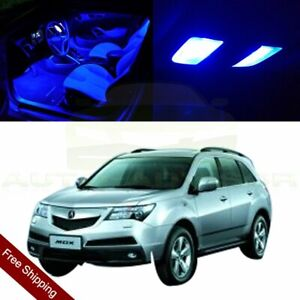 15pcs Blue Car Smd Led Bulbs For Acura Mdx 2010 2016 Interior 12v Lights Package