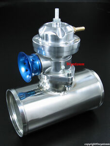 Turbo Type Rs Bov Blow Off Valve Silver 3 Polish 304 Stainless Steel Pipe
