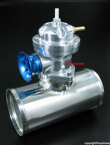 Turbo Type Rs Bov Blow Off Valve Silver 2 5 Polish 304 Stainless Steel Pipe