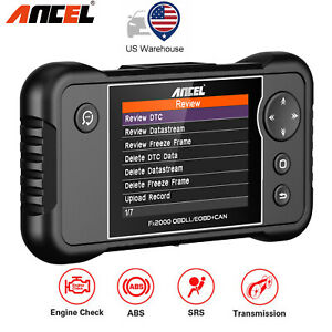 Ancel Fx2000 Obd2 Diagnostic Scan Tool Auto Scanner Engine Transmission Abs Srs