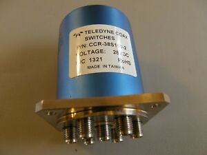 Teledyne Relays Coax Switch Sp6t Ccr 38s160 2 28vdc D sub 9 pin