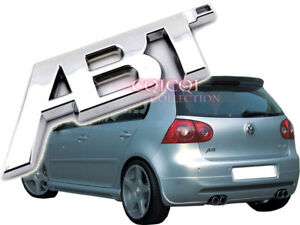 Silver Chrome Abt Emblem Sticker For Vw Golf Lupo Polo Passat Cc Scirocco Jetta