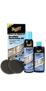Meguiar S Two Step Headlight Restoration Kit Restores Clarity Clean