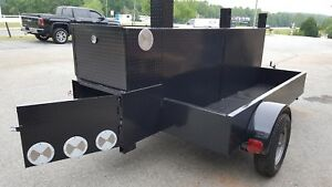 Shish Kebob Bbq Smoker 60 Grill Trailer Food Truck Mobile Catering Lock Storage