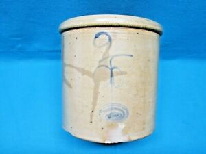 Antique 1890 S Red Wing Pottery Salt Glaze Double P 2 Gallon Crock Rare