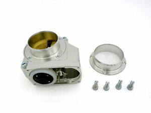 Obx R Silver Aluminum Individual Throttle Body For 08 15 Mitsubishi Lancer Evo X