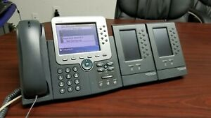 Cisco Cp 7975g 2x 7916 Voip Ip Office Phone W Expansion Module 7916