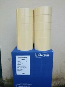 Intertape Automotive Masking Tape Half Case Pg 48 Beige 12 Rolls High Temp