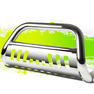 For 18 19 Jeep Wrangler 3 Bull Bar Front Bumper Grille Guard Chrome 2018 2019