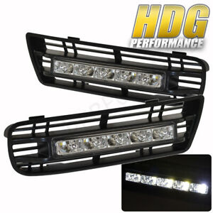 99 05 Mk4 Golf Euro Style Led Drl Lower Bumper Grille Fog Lamps