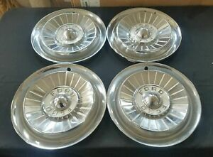 1957 57 Ford Fairlane 14 14 Inch Hubcaps Wheelcovers Fomoco Original Set Of 4