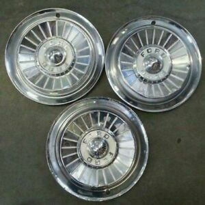 1957 57 Ford Fairlane 14 14 Inch Hubcaps Wheelcovers Fomoco Original