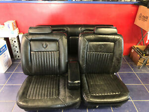 1991 Cadillac Fleetwood Brougham Front Rear Black Leather Seats