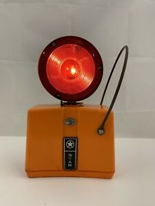 Vintage Working Star Traffic Blinking Warning Light Barricade Red yellow