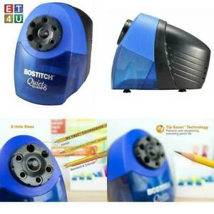 Heavy Duty Electric Pencil Sharpener With 6 Holes Blue For Classroom Office Home