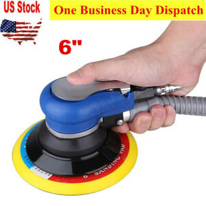 6 Air Random Orbital Palm Sander Auto Body Orbit Sanding W Dust Collection Hose
