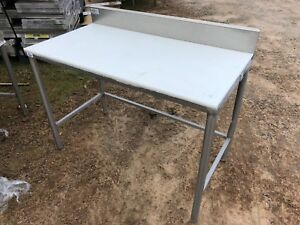 Win holt 4 X 25 Heavy Duty Commercial Polytop Poly Cutting Prep Work Table