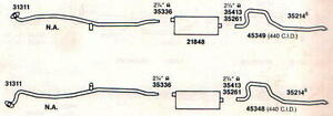 1968 1969 Charger Roadrunner Coronet Exhaust Aluminized With 440 Engines