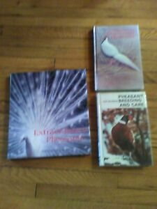 3 Books Pheasant Breeding Ornamentals Pictures Incubation Egg Hatching Chicken