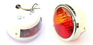 Pair Licence Plate Window Tail Stop Indicator Light Classic Vintage Tractor