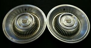 1963 1964 Cadillac Deville 15 15 Inch Hubcaps Wheelcovers