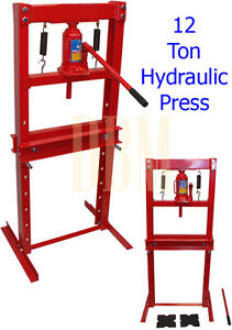 Heavy Duty 12 Ton Hydraulic Metal Shop Press Free Shipping