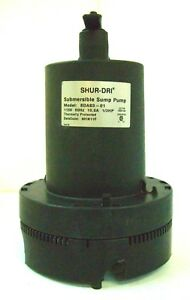 Shur Dri 1 3hp Sump Pump Sdas3 No Cord Or Float Busted Base