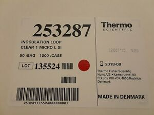253287 Thermo Scientific Inoculation Loop Clear Case Of 4000