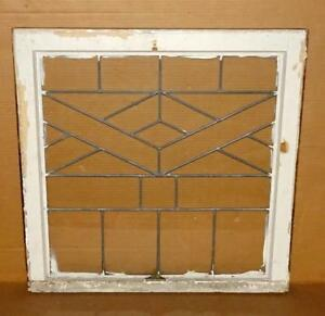 Vtg Leaded Glass Window Pane Salvaged Architectural Shabby Window Wall Decor