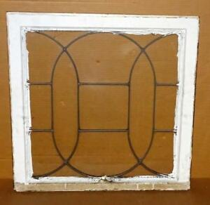 Vtg Leaded Glass Window Pane Salvaged Architectural Shabby Window Wall Decor 1