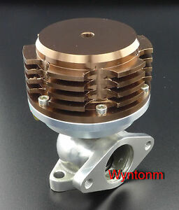 38mm 14 Psi External Wastegate Turbo Stainless Steel Dump Valve Anodized Brown