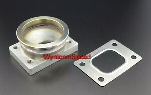 T25 Gt25 Gt28 T28 Turbo Inlet To 3 V Band Stainless Steel Flange Adp W Gasket