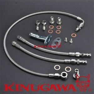 Kinugawa For Volvo 740 940 B230ft Turbo Oil Water Line Kit W Mhi Td04 Turbo