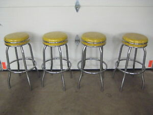 Midcentury Set Of Four 1960s Bar Stools