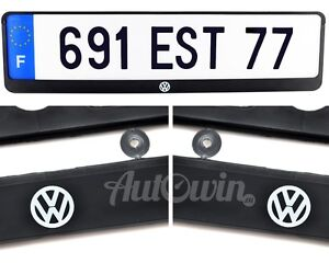 Volkswagen Euro Standart Vehicle License Plates Vw Logo Frames 1 Pcs