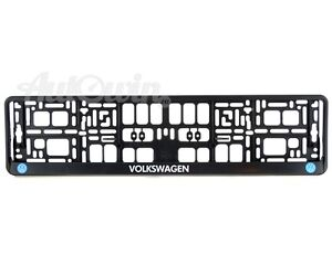 Volkswagen Euro Standart Vehicle License Plates Frames With Vw Logo 1 Pcs