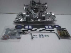 Quick Fuel Brawler 570 Cfm Carburetor W sbc Performer Intake complete Chevy Kit