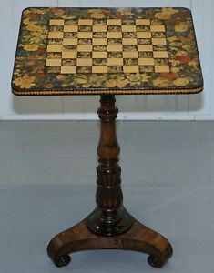 Circa 1820 Chinese Chinoiserie George Iv Rosewood Games Table Chess Tilt Top