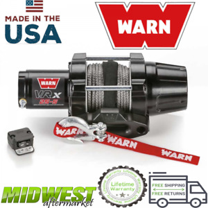 Warn Vrx 25 S Powersports 2500 Lb Capacity Synthetic Rope Winch