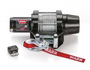 Warn Powder Coat Vrx 35 Powersport 3 500 Lb Capacity Steel Rope Electric Winch