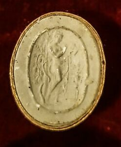 Antique Fine Small Grand Tour Early 1800 S Plaster Intaglio Cameo Italian