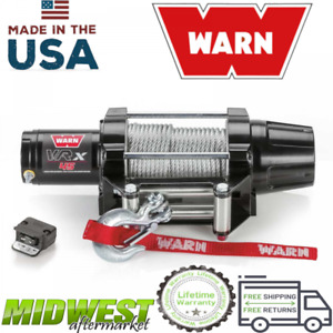 Warn Powder Coat Vrx 45 Powersport 4 500 Lb Capacity Steel Rope Electric Winch