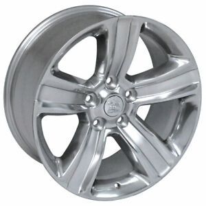 Polished Ram 1500 Style Wheel W Silver Inlay For 2011 2012 Ram 1500 20x9