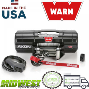 Warn Powder Coat Axon 45 Powersport 4 500 Lb Capacity Steel Rope Electric Winch
