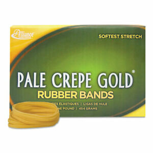 Pale Crepe Gold Rubber Bands Sz 117b 7 X 1 8 1lb Box 25 Boxes